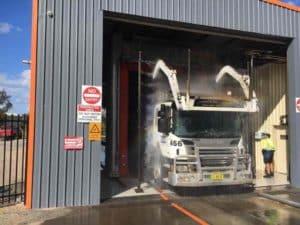 Garbage Truck Wash Final Rinse