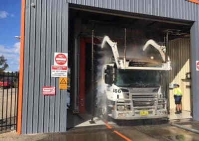Garbage Truck Wash Final Rinse